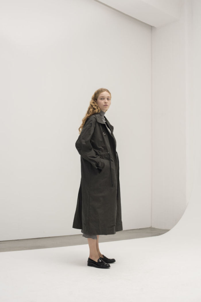 Aiayu COAT fall i Charcoal