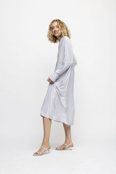 Moshi - Summer kaftan, stripe mix blue